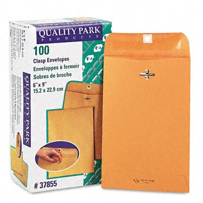 Quality Park Products Clasp Envelope, 6 X 9, 100/Box