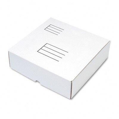 Quality Park Products Die-Cut Fiberboard Ring Binder Mailer w/3 Binder Cap, 12 x 12-1/4 x 3-7/8, White