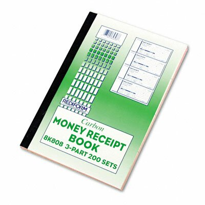 Rediform Office Products Money Receipt Book, 2 3/4 X 7, 200 Sets/Book