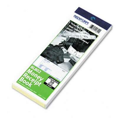 Rediform Office Products Money Receipt Book, 2 3/4 X 7, 50 Sets/Book