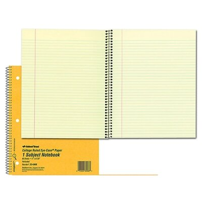 "Rediform Office Products Notebook, 1 Subject, 80 Sheets, College/Margin, 11""x8-7/8"", Brown"