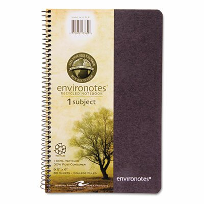 Roaring Spring Paper Products Environotes Sugarcane Notebook