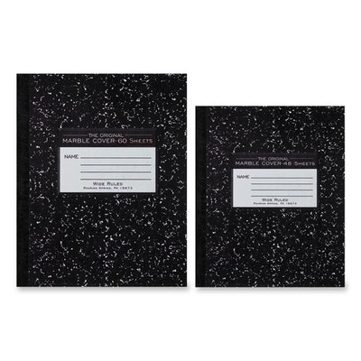 "Roaring Spring Paper Products Composition Book, Marble Design, 10""x8"", 60 Sheets, Black"