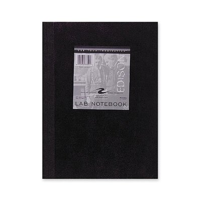 """Roaring Spring Paper Products Lab Notebook, Quad Ruled, 5""""x5"""", 60 Sheets, Tape Bound"""