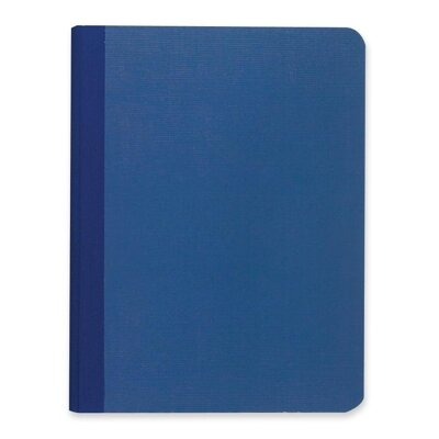 """Roaring Spring Paper Products Canvas Notebook,Narrow Rld,Numbered, 60/Sheets, 9-3/4""""x7-1/2"""", Blue"""