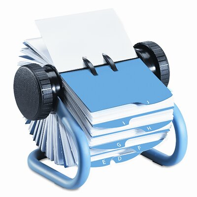 Rolodex Corporation Colored Open Rotary Business Card File