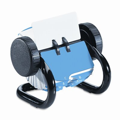 Rolodex Corporation Open Rotary Card File Holds 250 1 3/4 X 3 1/4 Cards