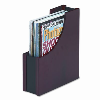 Rolodex Corporation Wood And Faux Leather Magazine File
