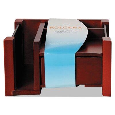 "Rolodex Corporation Desk Director, Wood, 4.125"" H x 7.125"" W x 6.75"" D"