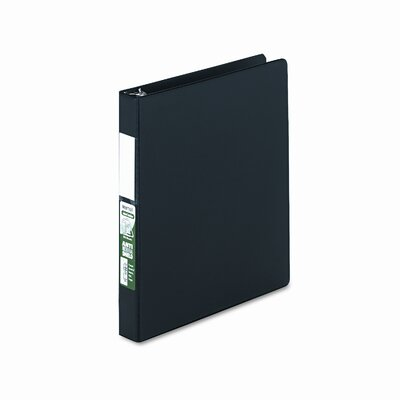 Antimicrobial Locking D-Ring Binder, 8-1/2 x 11, 1in Cap, Black by SAMSILL CORPORATION