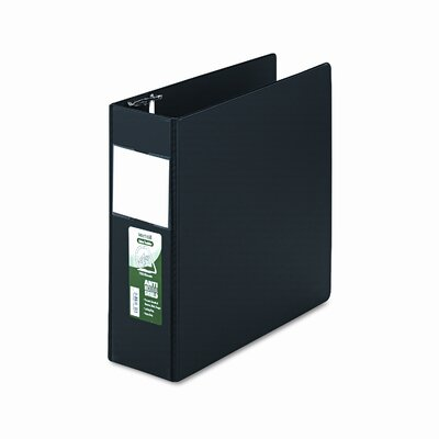 Antimicrobial Locking D-Ring Binder, 8-1/2 x 11, 4in Cap, Black by SAMSILL CORPORATION