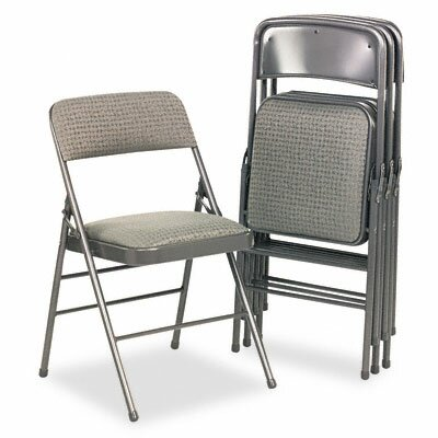 Cosco Bridgeport Deluxe Fabric Padded Seat & Back Folding Chairs