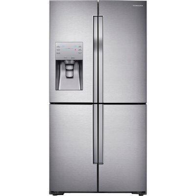 13.6 cu. ft. Bottom Freezer Refrigerator in Stainless Steel with 4-Door Flexzone™ Product Photo