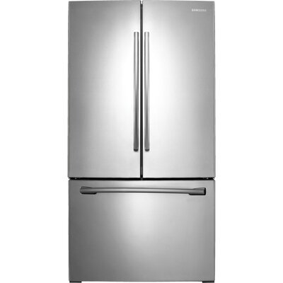 Samsung 17 5 cu ft french door refrigerator with for 17 cu ft french door refrigerator