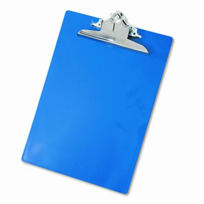 """Saunders Manufacturing Plastic Antimicrobial Clipboard, 1"""" Capacity"""