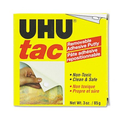 Saunders Manufacturing Tac Adhesive Putty Sheets, Removable/Reusable, Nontoxic