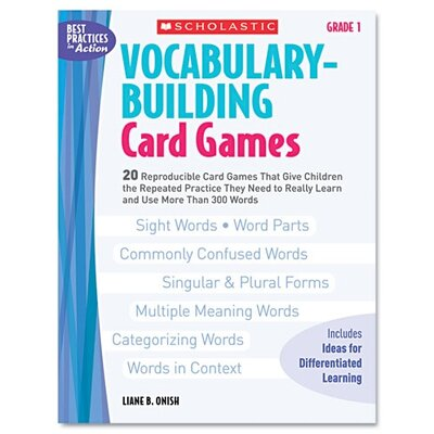 Vocabulary Building Card Games, Grade One Book by Scholastic