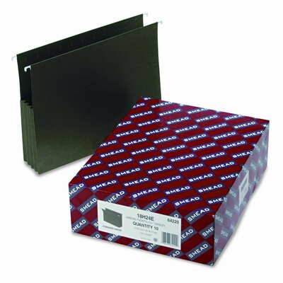 Smead Manufacturing Company 3 1/2 Inch Hanging File Pockets with Sides, 10/Box