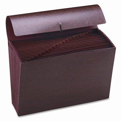 Smead Manufacturing Company Hvy-Duty A-Z Expanding File, 21 Pocket, Leather-Like Redrope, Legal, Red