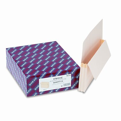 """Smead Manufacturing Company 5.25"""" Accordion Expansion Straight Tab File Pocket with Tyvek, 10/Box"""