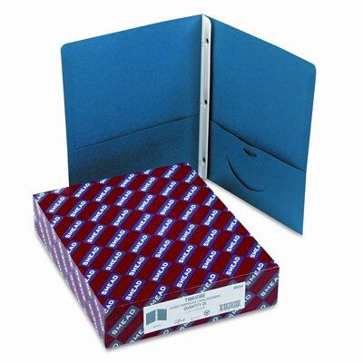 "Smead Manufacturing Company Two-Pocket Portfolio, Tang Clip, Letter, 1/2"" Capacity, Dark Blue, 25 per Box"