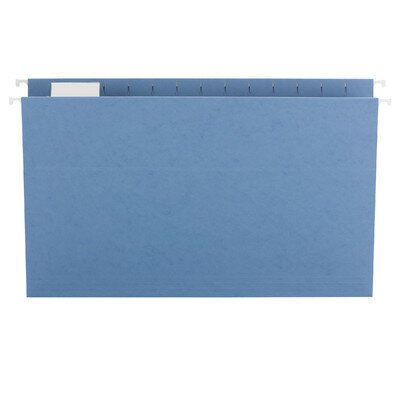 Smead Manufacturing Company Hanging File Folders, 1/5 Tab, 11 Point Stock, Legal, Navy, 25/Box