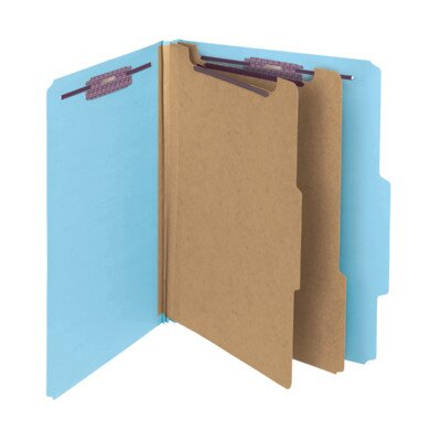 """Smead Manufacturing Company Classification Folder w/SF, Ltr, 2"""" Exp, 10 per Pack, Blue"""