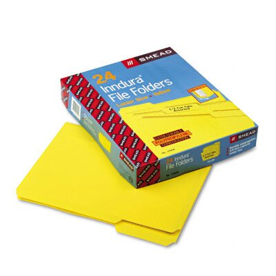 Smead Manufacturing Company Waterproof Poly File Folders, 24/Box