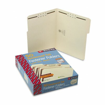 Smead Manufacturing Company Two Fasteners 1/3 Cut Assorted Top Tab Folder, Letter, 50/Box