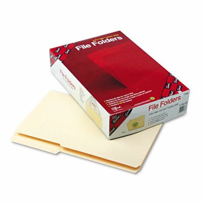 Smead Manufacturing Company 2/5 Cut Right Guide Height Folder, 100/Box