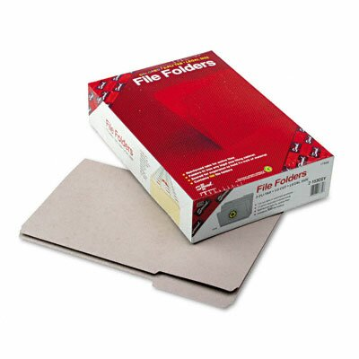 Smead Manufacturing Company File Folders, 1/3 Cut, Reinforced Top Tab, 11 Point, Legal, Gray, 100/Box