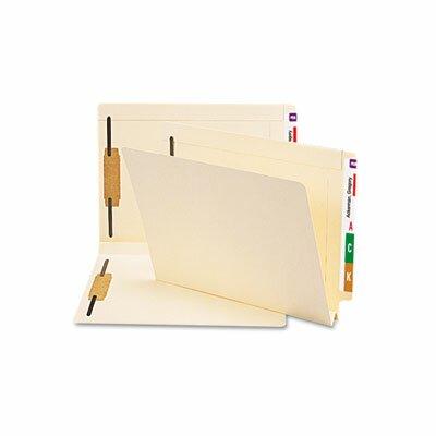 Smead Manufacturing Company Hvywt Folders, 2 Fasteners, W-fold Expansion, Straight End Tab, Ltr, MLA, 50/Box