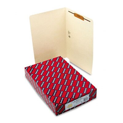 Smead Manufacturing Company One Fastener End Tab 11 Point Heavyweight Folders, Legal, 50/Box