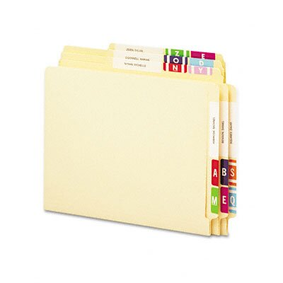 Smead Manufacturing Company Alpha-Z Color-Coded Second Letter Labels Starter Set, A-Z , 2200/Box