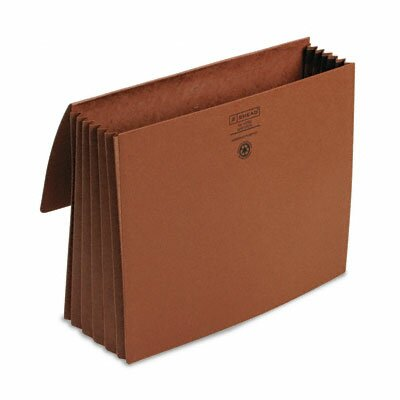 """Smead Manufacturing Company 5 1/5 in Expansion Wallets, Redrope, Letter - 8.5"""" x 11"""" - 5.25"""" Expansion"""