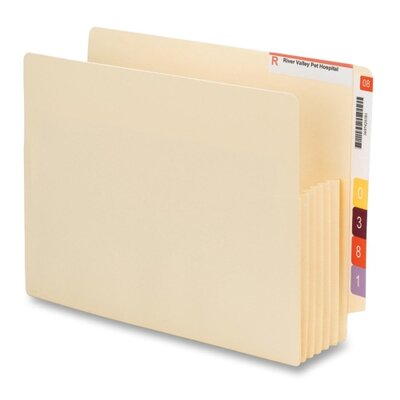 """Smead Manufacturing Company File Pockets, End Tab Conv, Ltr, 5-1/4"""" Exp, 10/BX, MLA"""