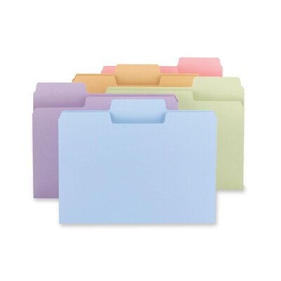 Smead Manufacturing Company Super Tab Folders, 11 Pt., 1/3 Cut, Letter, 24 per Pack, Assorted