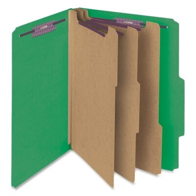 """Smead Manufacturing Company 3"""" Expansion Folders with 2/5 Cut Tab, 10/Box"""