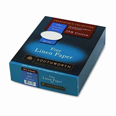 Southworth Company 25% Cotton Linen Business Paper, 500/Box, Fsc