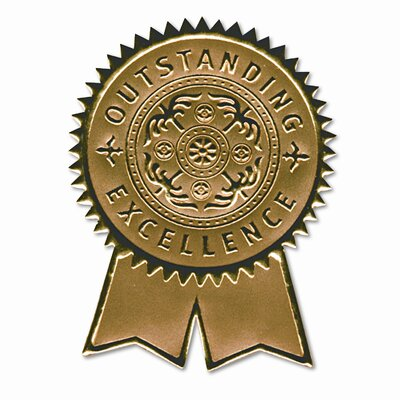 Southworth Company Certificate Seals Embossed Foil, 12/Pack