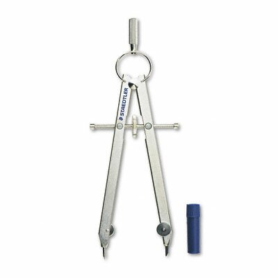 "Staedtler, Inc. Masterbow Comfort Student Compass, Metal, 10-1/4"" Maximum Diameter, Chrome"
