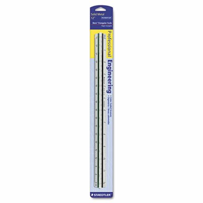 Staedtler, Inc. Triangular Scale for Arcects, Color-Coded Grooves, 12 Incheshit