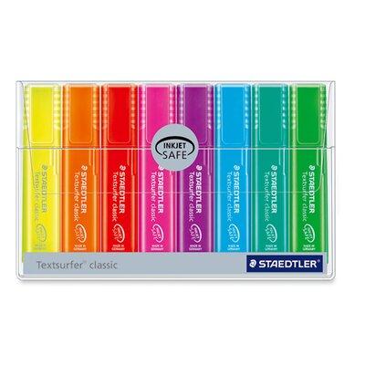 Staedtler, Inc. Highlighter, Broad Chisel Tip, Fluorescent Red
