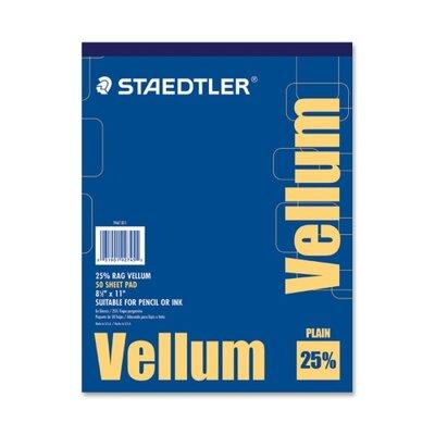 "Staedtler, Inc. Vellum Pad, 16 lb., 50 Sheets, 8-1/2""x11"""
