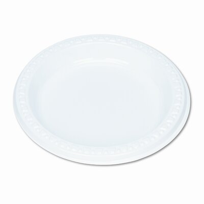"Tablemate Products Plastic Dinnerware / Plates, 6"" Diameter, 125/Pack"