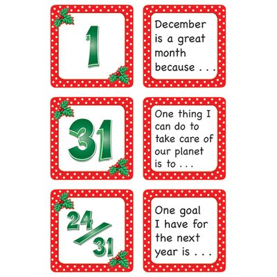 Teacher Created Resources December Polka Dots Calendar Days Calendars Accessory