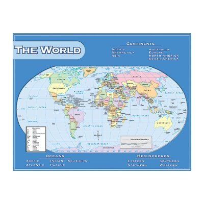Teacher Created Resources World Map Chart 17x22