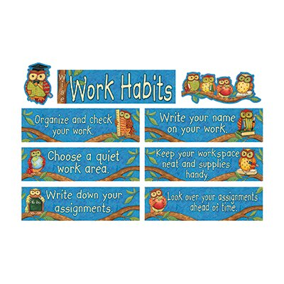 Teacher Created Resources Sw Wise Work Habits Mini Bulletin Board Cut Out Set