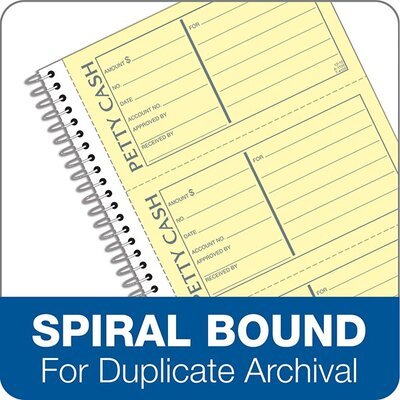Tops Business Forms Receipt/Petty Cash, 5-1/2 x 11, Carbonless Duplicate, 200 Sets/Book