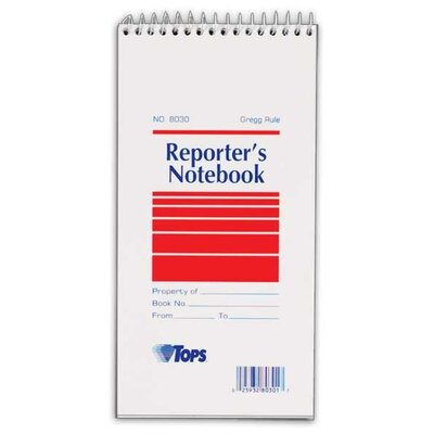 Tops Business Forms Notebook, Gregg, 70 Sheets, 4x8, White